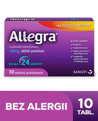ALLEGRA 120 mg - 10 tabletek. Lek na alergię i katar sienny - cena, opinie, dawkowanie - Apteka internetowa Melissa