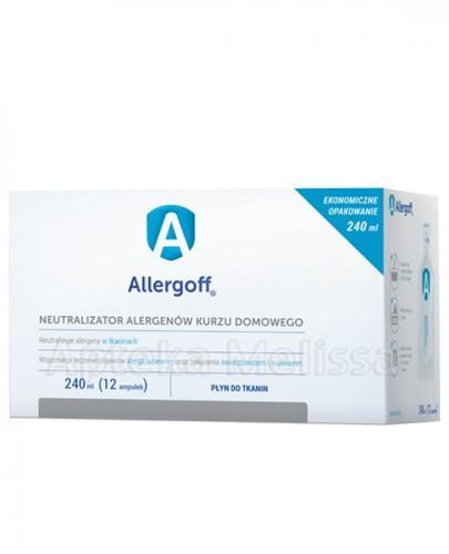 ALLERGOFF Neutralizator alergenów kurzu domowego do tkanin - 240 ml (12 amp.)  - Apteka internetowa Melissa