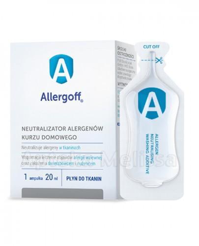 ALLERGOFF Neutralizator alergenów kurzu domowego do tkanin - 20 ml (1 amp.) - Apteka internetowa Melissa