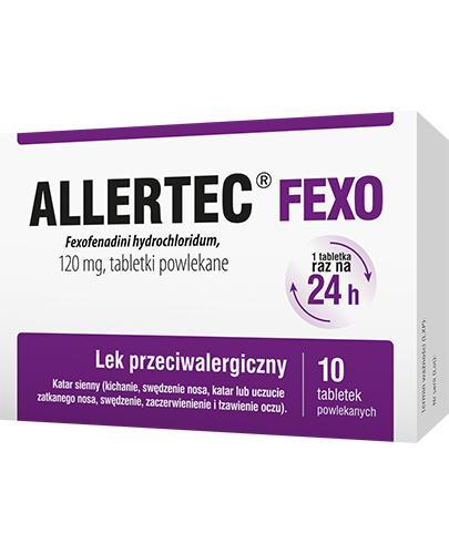 Allertec Fexo - 10 tabl. Lek przeciwalergiczny - cena, opinie, ulotka - Apteka internetowa Melissa