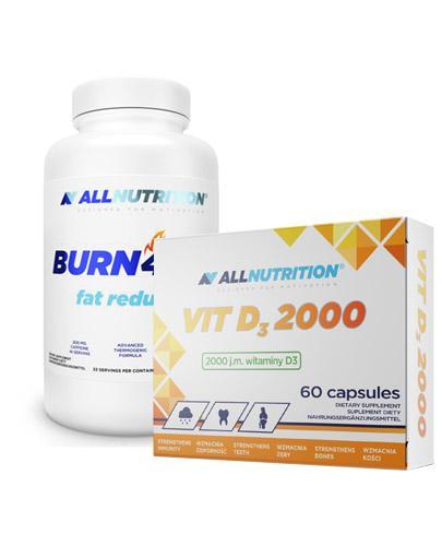 ALLNUTRITION Burn4all fat reductor - 100 kaps. + ALLNUTRITION VIT D3 2000 - 60 kaps. - Apteka internetowa Melissa