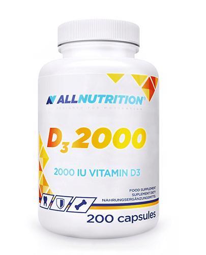 Allnutrition D3 2000 - 200 kaps. - cena, opinie, działanie - Apteka internetowa Melissa