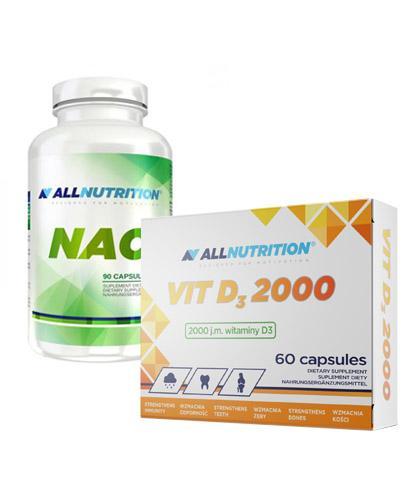 ALLNUTRITION NAC - 90 kaps. + ALLNUTRITION VIT D3 2000 - 60 kaps. - Apteka internetowa Melissa