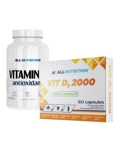 ALLNUTRITION Vitamin C antioxidant - 250 g + ALLNUTRITION VIT D3 2000 - 60 kaps. - Apteka internetowa Melissa