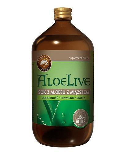 ALOELIVE Sok z aloesu z miąższem płyn - 1000 ml - Apteka internetowa Melissa