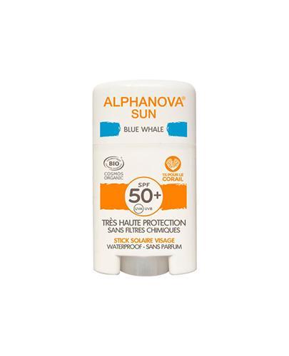 Alphanova Sun Krem z filtrem w sztyfcie SPF50+ Blue Whale  - 12 g Krem przeciwsłoneczny do twarzy - cena, opinie, właściwości  - Drogeria Melissa