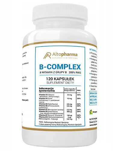 Altopharma Witamina B-Complex 8 witamin z grupy B 200% RWS - 120 kaps. - cena, opinie, wskazania - Drogeria Melissa