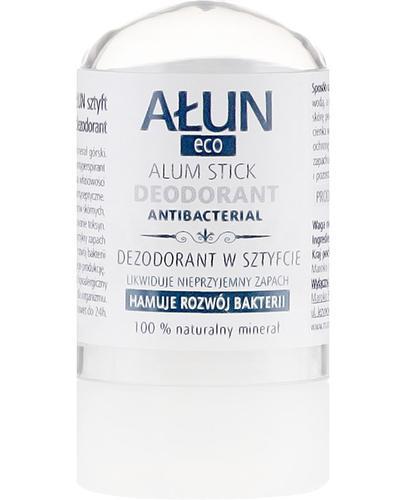 Ałun Eco Dezodorant w sztyfcie 100% naturalny minerał - 55 g - cena, opinie, właściwości - Apteka internetowa Melissa