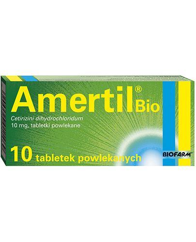 AMERTIL BIO 10 mg  - 10 tabl. Na alergię u dorosłych i dzieci od 6 r. ż. - Apteka internetowa Melissa