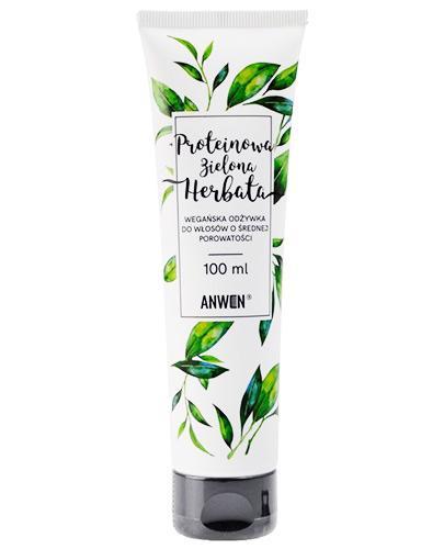 Anwen Proteinowa Zielona Herbata Wegańska odżywka do włosów o średniej porowatości - 100 ml - cena, opinie, wskazania - Apteka internetowa Melissa