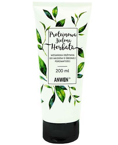 Anwen Proteinowa Zielona Herbata Wegańska odżywka do włosów o średniej porowatości - 200 ml - cena, opinie, właściwości