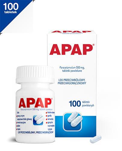 APAP - Paracetamol 500 mg - 100 tabl.