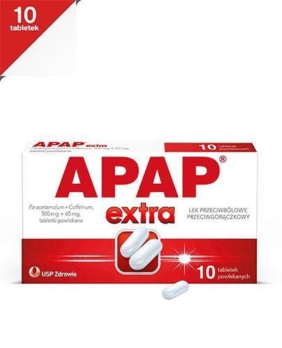 APAP EXTRA - Paracetamol 500 mg + kofeina 65 mg- 10 tabl. - Apteka internetowa Melissa