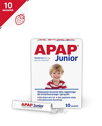 APAP JUNIOR Granulat 250 mg - 10 sasz. - Apteka internetowa Melissa