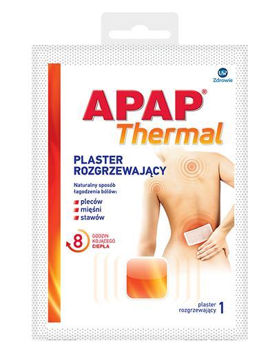 APAP THERMAL Plaster rozgrzewający - 1 szt. - cena, opinie, stosowanie - Drogeria Melissa