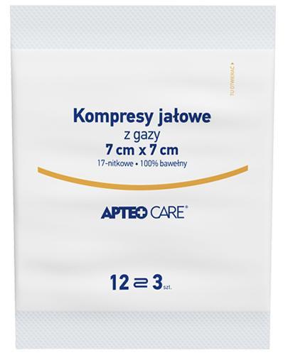 APTEO Kompresy gazowe jałowe 7x7 12-warstwowe - 3 szt. - Apteka internetowa Melissa