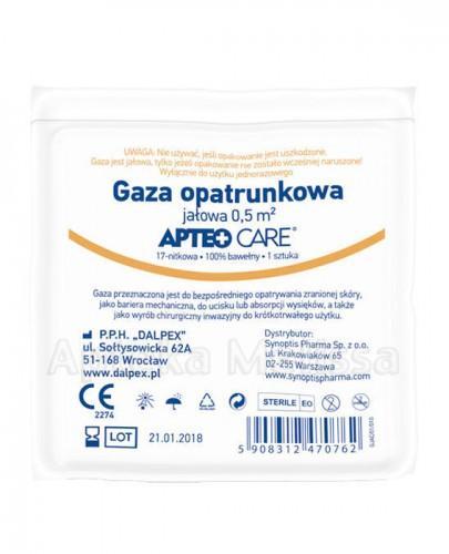 APTEO CARE Gaza opatrunkowa jałowa 0,5 m2 - 1 szt. - Apteka internetowa Melissa