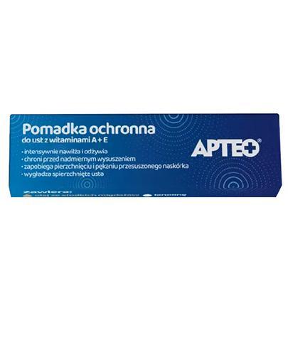 APTEO CARE Pomadka ochronna do ust z witaminami A+E - 3,8 g - Drogeria Melissa