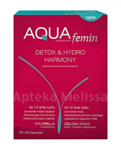 AQUA FEMIN DETOX&HYDRO HARMONY - 30 kaps. + 30 kaps. - Apteka internetowa Melissa