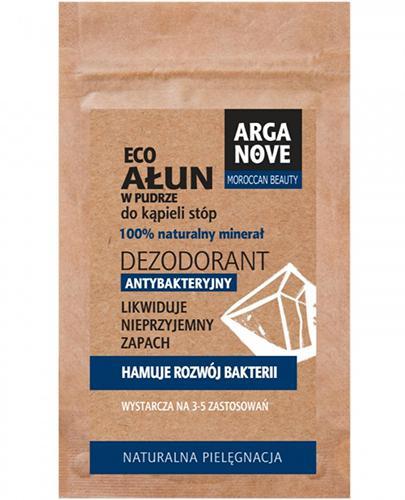 Arganove Ałun dezodorant antybakteryjny do kąpieli stóp w pudrze - 25 g - cena, opinie, właściwości - Apteka internetowa Melissa
