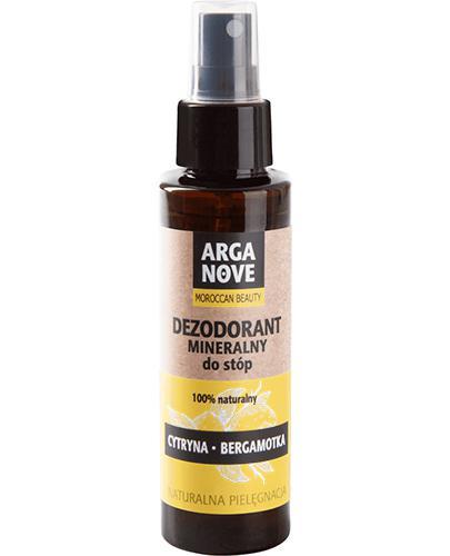 Arganove Dezodorant mineralny do stóp 100% naturalny cytryna i bergamotka - 100 ml - cena, opinie, wskazania - Drogeria Melissa