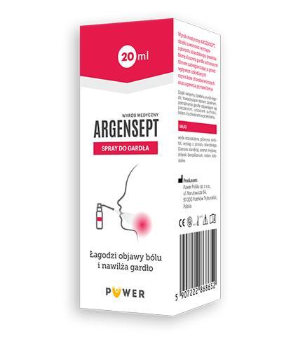 ARGENSEPT Spray do gardła - 20 ml - ze srebrem koloidalnym - cena, opinie, właściwości - Drogeria Melissa