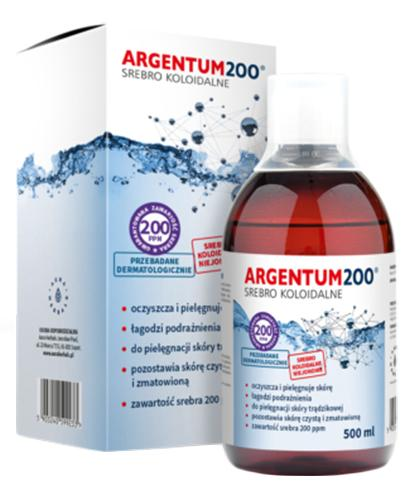 ARGENTUM200 Srebro koloidalne 200PPM tonik - 500 ml