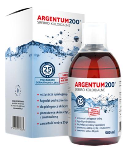 ARGENTUM200 Srebro koloidalne 25PPM tonik - 500 ml - Apteka internetowa Melissa