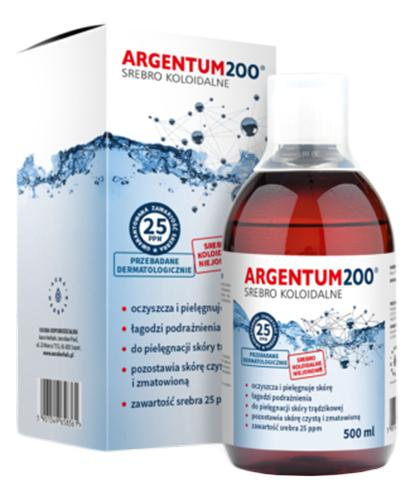 ARGENTUM200 Srebro koloidalne 25PPM tonik - 500 ml - Drogeria Melissa