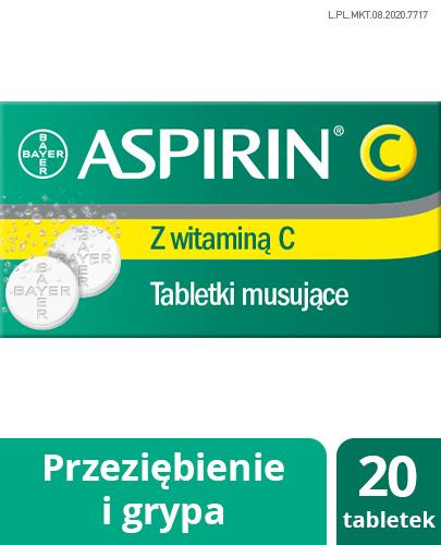 ASPIRIN C - 20 tabl. mus. - Apteka internetowa Melissa