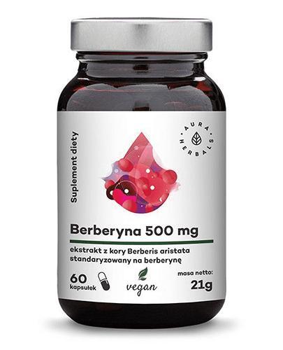 Aura Herbals Berberyna 500 mg - 60 kaps. - cena, opinie, właściwości  - Apteka internetowa Melissa