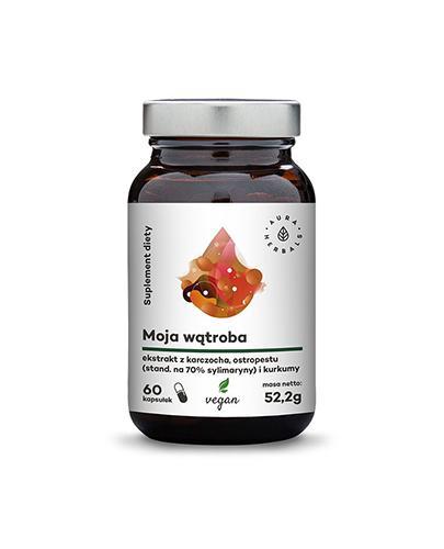 Aura Herbals Moja Wątroba ekstrat z karczocha, ostropestu i kurkumy - 60 kaps. - cena, opinie, właściwości - Apteka internetowa Melissa