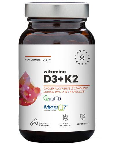 Aura Herbals Witamina D3 + K2 - 90 kaps. - cena, opinie, dawkowanie - Drogeria Melissa