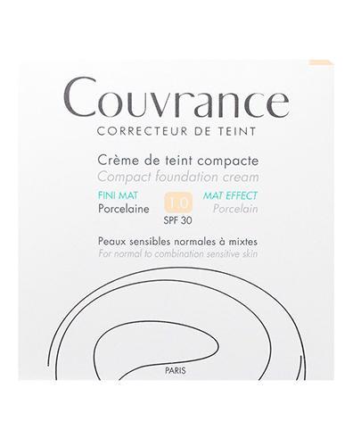 AVENE COUVRANCE MAT EFFECT Kremowy podkład w kompakcie 01 porcelanowy - 10 g  - Apteka internetowa Melissa