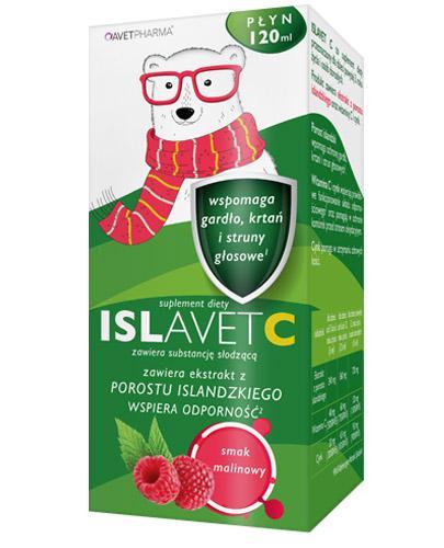 Avet Pharma Islavet C - 120 ml Syrop na gardło - wspomaga gardło, krtań i struny głosowe - cena, opinie, stosowanie - Drogeria Melissa
