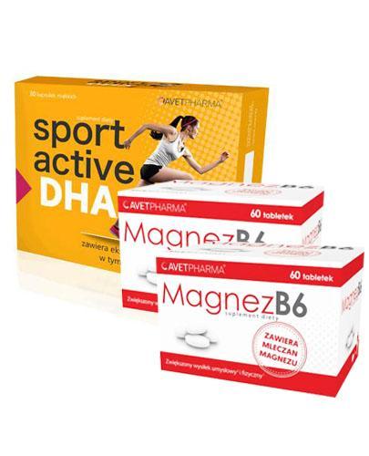 AVET SPORT ACTIVE DHA - 30 kaps. + MAGNEZ B6 - 2 x 60 tabl.  - Drogeria Melissa
