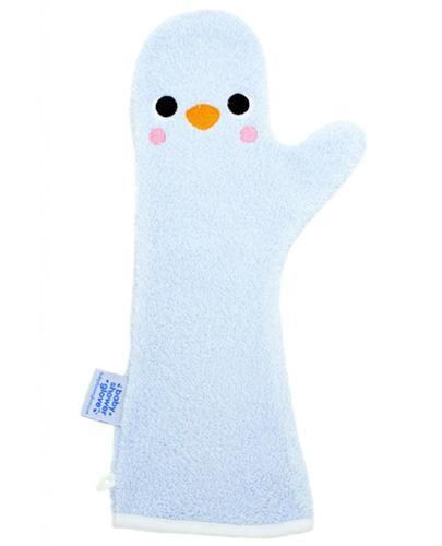 BABY SHOWER GLOVE Rękawica antypoślizgowa pod prysznic kolor niebieski - 1 szt - cena, opinie, użytkowanie