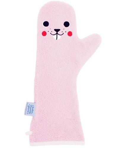 BABY SHOWER GLOVE Rękawica antypoślizgowa pod prysznic kolor różowy - 1 szt - cena, opinie, użytkowanie