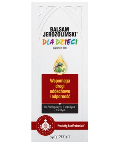 BALSAM JEROZOLIMSKI DLA DZIECI Syrop - 200 ml