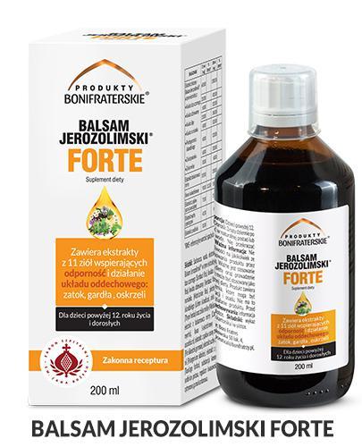 BALSAM JEROZOLIMSKI FORTE Płyn - 200 ml Na odporność i drogi oddechowe - cena, opinie, właściwości - Apteka internetowa Melissa