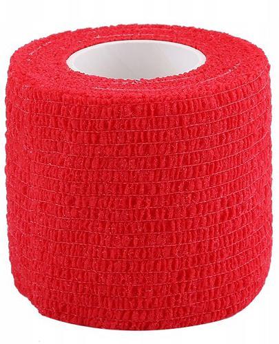 Bandaż kohezyjny 5 m x 4,5 cm czerwony - 1 szt. - cena, opinie, właściwości