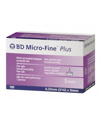 BD Micro-Fine Plus Igły do penów 31G 0,25 mm x 5 mm - 100 szt. - cena, opinie, wskazania - Apteka internetowa Melissa