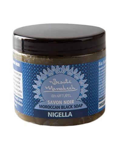 Beaute Marrakech Czarne mydło marokańskie Savon Noir z olejem z czarnuszki  100% Naturalne - 200 g - cena, opinie, wskazania - Apteka internetowa Melissa