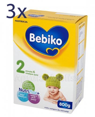 BEBIKO 2 Mleko modyfikowane następne dla niemowląt - 3 x 800 g  - Apteka internetowa Melissa