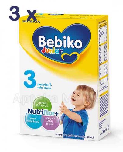 BEBIKO 3 JUNIOR Mleko modyfikowane następne dla niemowląt - 3 x 800 g - Apteka internetowa Melissa