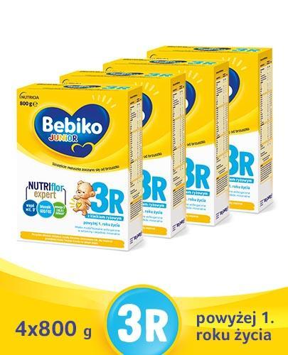 BEBIKO 3R JUNIOR Mleko modyfikowane następne dla niemowląt - 4 x 800 g - Apteka internetowa Melissa