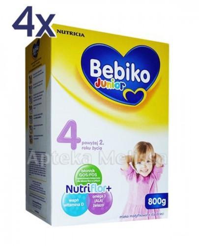 BEBIKO 4 JUNIOR Mleko modyfikowane następne dla niemowląt - 4 x 800 g - Apteka internetowa Melissa