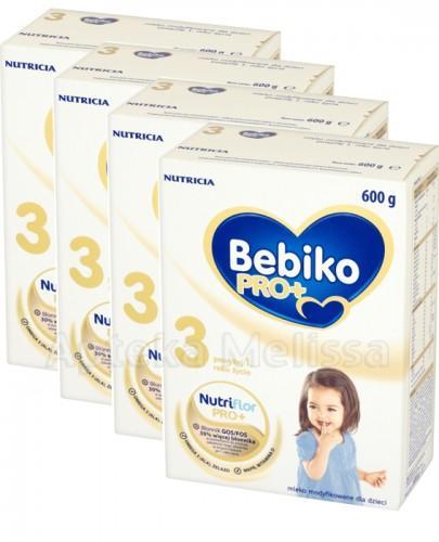 BEBIKO PRO+ 3 Mleko modyfikowane - 3 x 600 g + 600 g GRATIS !  - Apteka internetowa Melissa