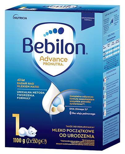 Bebilon 1 z Pronutra-Advance Mleko modyfikowane w proszku - 1100 g Dla niemowląt od urodzenia do 6 miesiąca życia - cena, opinie, stosowanie  - Drogeria Melissa