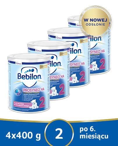 BEBILON 2 HA PROSYNEO Mleko modyfikowane w proszku - 4 x 400 g - cena, opinie, wskazania